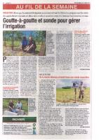 Agri 72- Mai 2015 – Goutte-à-goutte et sonde pour gérer l'irrigation