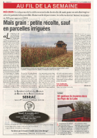 Agri 72 – Novembre 2015 – Irriguer le maïs